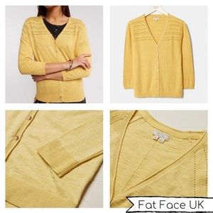 Fat Face Organic cotton daffodil cardigan 2